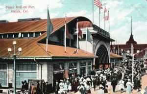 Vintage Postcard 1910's Dance Hall On Pier Venice Cal. California CA