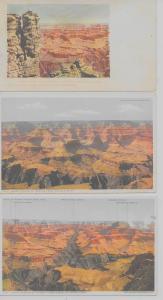 Group of 5 Grand Canyon Arizona scenic views Detroit Pub antique pc (Z9424)