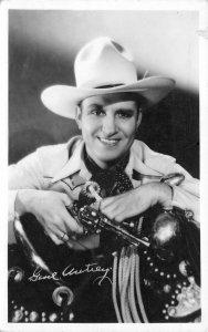 RPPC GENE AUTRY Famous Singing Cowoby Actor Musician Portrait Postcard ca 1930s
