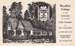 LAKE SUNAPEE, New Hampshire, 1954; Woodbine Cottage at the Harbor