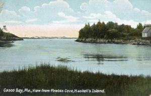 ME - Casco Bay from Pirate's Cove, Haskell's Island