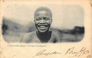 South Africa A Zulu Umfaan (boy) smiling ethnic postcard