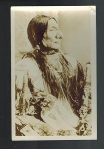 Mint RPPC Real Picture Postcard Native American Indian Chief Long Bull