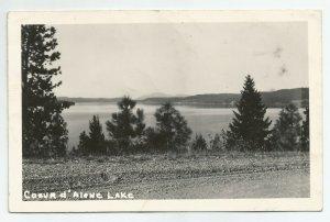 VTG Beautiful Coeur d'Alene Lake c1920s Dirt Road Lakeside View RPPC Postcard