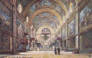 MALTA, PU-1906; Interior Of  St. John's Church, TUCK No. 7090