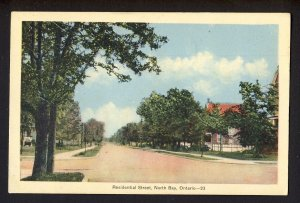 Residential Street, North Bay, Ontario - pu 1938 North Bay ONT