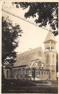 G45/ Chateaugay New York RPPC Postcard 1910 Presbyterian Church