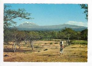 TANZANIA  Native man & Mt Kilimanjaro, 60-70s