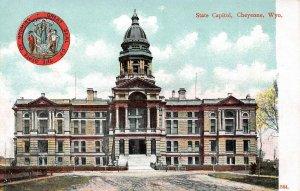LP55  Cheyenne  Wyoming  Postcard  State Capitol