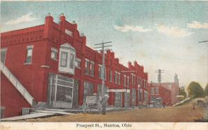 F36/ Mantua Ohio Postcard c1910 Portage County Prospect St Stores