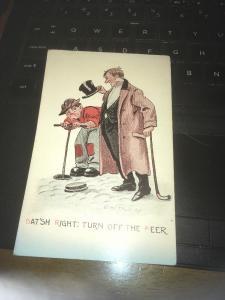 Vtg Postcard: Dat'sh Right: Turn off the Beer