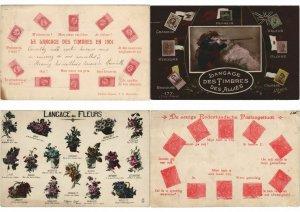 LANGUAGE DE STAMPS FANTASY 21 CPA Mostly Pre-1940 (L3059)