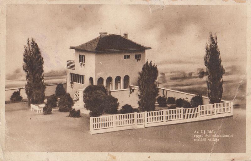 Hungary Az Uj Idok 1931 evi rozsadombi csaladi villaja