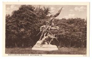 Gettysburg PA North Carolina Monument Curteich 1930 Postcard