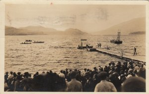 RP; WHITEFISH , Montana , 1926 ; Water Sports - Labor Day Celebration