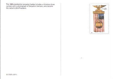 US #UX391 Patriotic stamped Card.  Nice