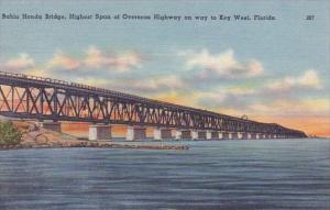Florida Key West Bahia Honda Bridge Highest Span Of Overseas Highway On Way T...