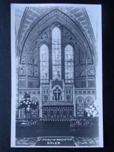 Kent Dover ST. MARY IN THE CASTLE CHURCH - Old Plain Back RP Postcard