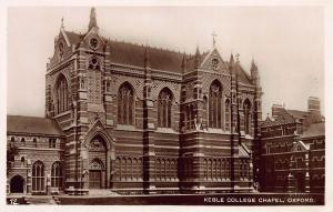 Keble College Chapel, Oxford, England, Early Real Photo Postcard, Unused