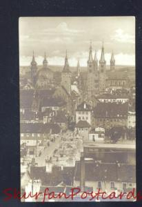 RPPC WURZBURG GERMANY BLICK AUF DIS ALTSTADT VINTAGE OLD POSTCARD