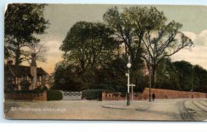 St. Andrews Uxbridge Middlesex London UK Vintage Postcard D95