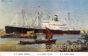 SS Santa Monica, SS Santa Clara, SS Satna Sofia Grace Line Ship Postcard Post...