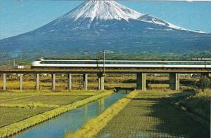 Japan Osaka Bullet Train Passing Mount Fuji