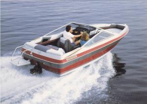 Boat ad, Maxum boat company, Washington, USA, 50-70s ; Model Maxum 1700/SR