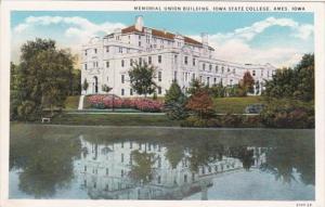 Iowa Ames Memorial Union Building Iowa State College Curteich