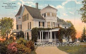Churches Vintage Postcard Concord, NH, USA Vintage Postcard Pleasant View, Ho...