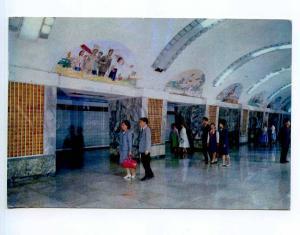 250844 KOREA Pyongyang METRO Kwangmyong station Old postcard
