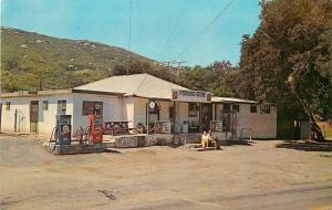 Potrero CA~Gasoline Pumps~Joseph Thing's Old Store~7 Up Your Thirst Away~1960s