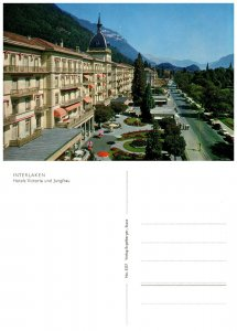 SWITZERLAND Postcard Interlaken - Hotels Victoria (A14)