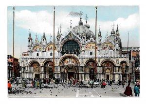 Italy Venice Church Basilica S Marco Vintage Glossy Cesare Capello 4X6 Postcard
