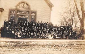 Belton Missouri ME South Sunday School Class Real Photo Antique Postcard J77469