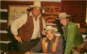 Bonanza TV Fame Cast Ponderosa Ranch 1960s Postcard Crocker 7365