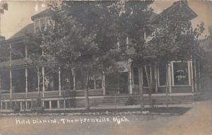 E47/ Thompsonville Michigan Mi Real Photo RPPC Postcard 1907 Hotel Diamond