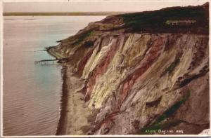 Alum Bay Isle of Wight IW Cliffs Coastline RPPC Real Photo Postcard D40