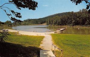 Berkeley Springs West Virginia~Coolfont Beach~Wood Sidewalk Down~Pier~1950s PC