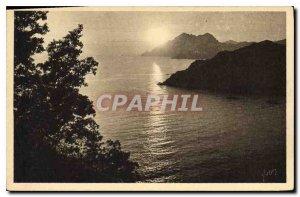 Postcard Old Sweet France Corsica Ile de Beaute Porto Sunset on the Gulf of P...