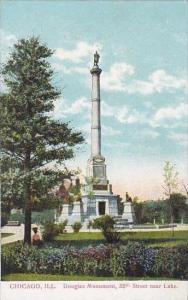 Illinois Chicago Douglasa Monument 35th Street Near lake