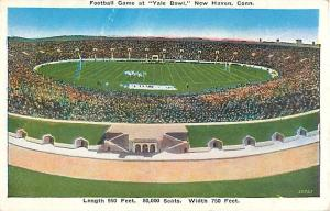 Football Game at Yale Bowl New Haven Connecticut CT Postcard