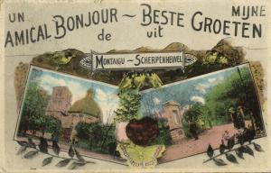 belgium, MONTAIGU, Beste Groeten uit Scherpenheuvel (1930) Postcard
