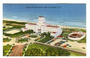 Air view, Ocean Forest Hotel,  Myrtle Beach,  South Carolina,  40-60s