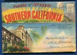 Sunny Southern California ca Griffith Park Planetarium LA postcard folder