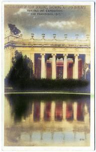 1915 Pan Pac Expo Nichein Court 4 Seasons Photographer Real Photo RPPC Postcard