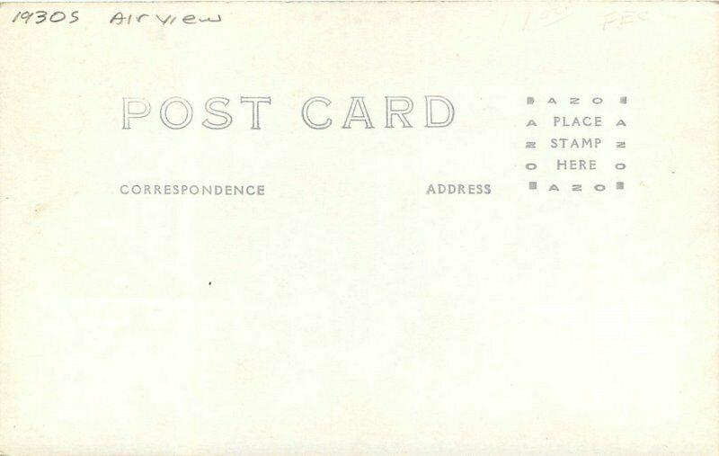 Airview New Post Office 1930s RPPC Photo Postcard 4018
