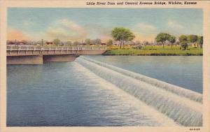 Kansas Wichita Little River Dam And Central Avenue Bridge