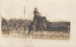 RP: FEMALE RODEO ; WINEVILLE , CA. , 1913 ; Tillie Baldwin