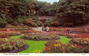 Vintage Postcard Sunken Gardens, St. Annes on Sea, Lancashire N89